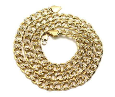 Rappers Iced Out Bling Necklace
