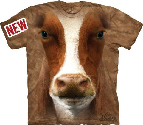 Mountain Moo Adult Size T-shirt , Bronze , XXX-Large