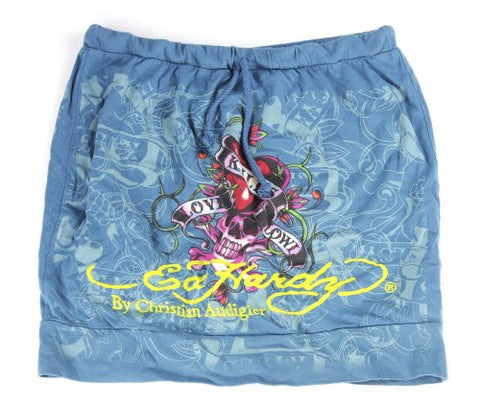 NYfashion101 (TM) Women's Ed Hardy Love Kills Slowly Graphic Mini Skirt 34460T