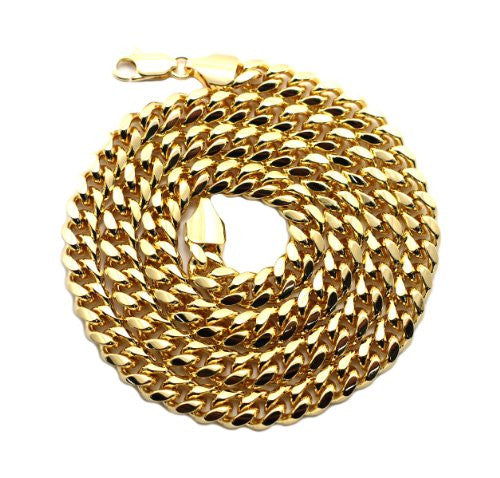 Quality Brass Miami Cuban Link Chain Necklace