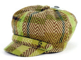 Women's Warm Plaid Ivy Hat w/ Leopard Print Padding Inside CB019-1