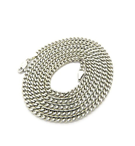 Diamond-Cut Cuban Link Chain Necklace