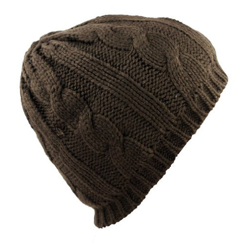 Unisex Trendy Warm Chunky Soft Stretch Beanie Hat by Angela & William