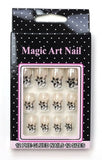 MAGIC ART NAIL Pre-Glued Easy Apply Design Acrylic Nail Tips 12-A-Pack Set