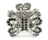 Womens Rhinestone Metal Claw Hair Clip Butterfly Silver IMC2041 Variety Colors