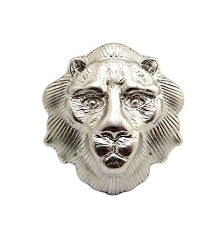 Lion Head Charm Stretch Fashion Ring in Silver-Tone XR38R