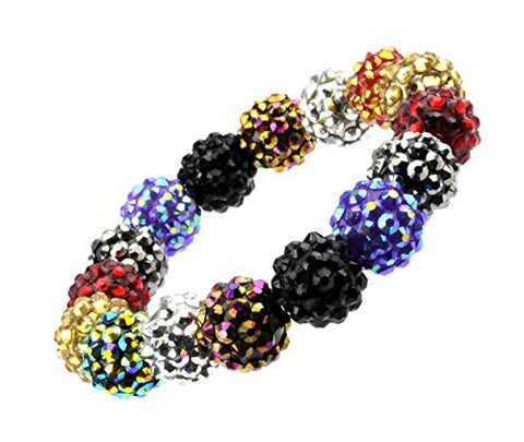 Encrusted Bead Stretch Bracelet