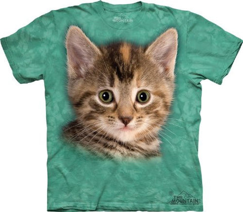 Mountain Tyler the Kitten Adult Size T-shirt , Green , X-Large