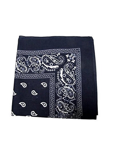 Bandanas by the Dozen (12 units per pack, 100% cotton) - Navy