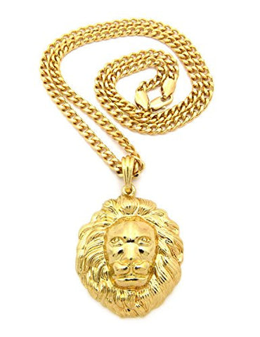 3D Lion Head Necklace
