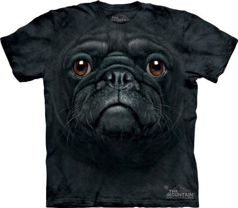 Official The Mountain Black Pug Face T-shirt Adult and Youth Sizes
