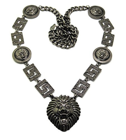 Five Lion Heads Necklace