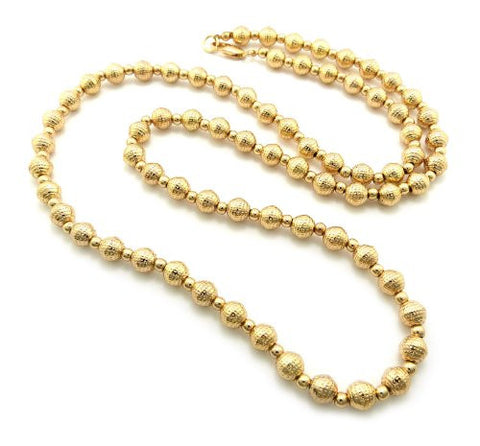 Dotted Top Quality CCB Bead Chain Necklace