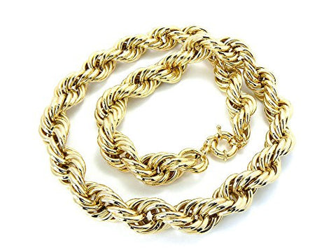 Unisex Hip Hop Rope Chain Necklace