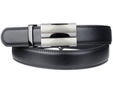 Eurosport Men's Leather Slim Cut-To-Fit Ratchet Dress Belt with Automatic Buckle, DH66