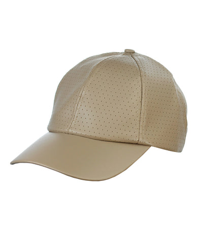 NYFASHION101 Soft PU Leather Perforated Precurved Baseball Cap