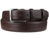 Eurosport Men's Bonded Leather Classic Style Cut-To-Fit Belt with Square Buckle