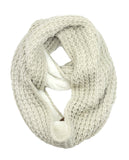 Exclusive Warm Chunky Knit Sherpa Lined Winter Infinity Scarf