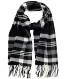 D&Y Unisex Classic Softer Than Cashmere Plaid Fringe End Scarf