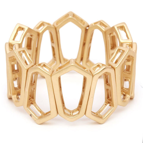 Women's Chic Hollow Shape Fashion Stretch Bracelet