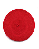 French Style Lightweight Casual Classic Solid Color Wool Beret