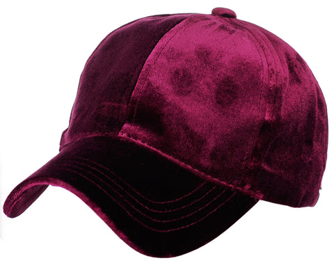 C.C Ponycap Messy High Bun Ponytail Soft Velvet Adjustable Baseball Cap Hat
