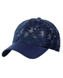 C.C Women's Floral Lace Panel Vented Adjustable Precurved Baseball Cap Hat
