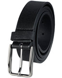 Eurosport Men's Textured Bonded Leather Casual Cut-To-Fit Belt with Square Buckle