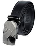Eurosport Men's Leather Cut-To-Fit Ratchet Dress Belt with Automatic Buckle