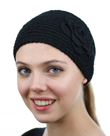 NYFASHION101 Hand Knitted Button Closure Winter Headband Headwrap