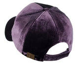 C.C Unisex Soft Velvet Crushable Blank Adjustable Baseball Cap Hat