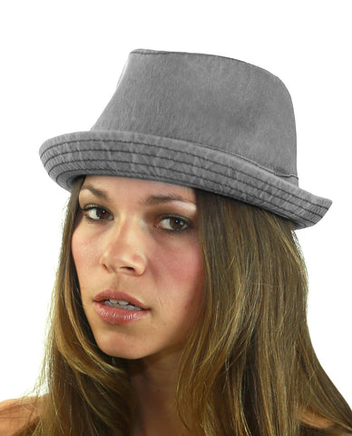 NYFASHION101 Classic Lightweight Cotton Unisex Trilby Fedora Hat