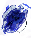 NYfashion101 Cocktail Elegant Ruffle Feather Sinamay Fascinator Headband