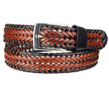 Eurosport Men's Braided Weaved Bonded Leather Dress Belt