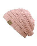 Unisex Trendy Warm Chunky Soft Stretch Cable Knit Slouchy Beanie Skully