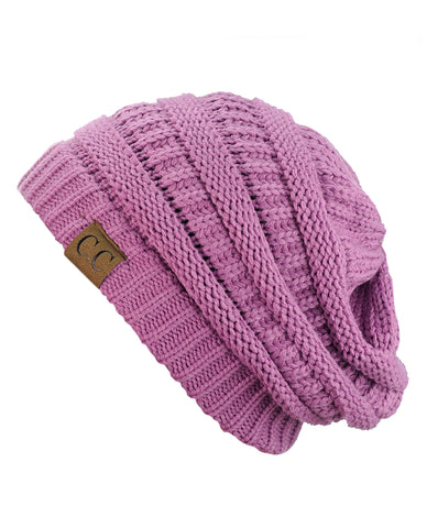 4d8c2d2778b ... Unisex Trendy Warm Chunky Soft Stretch Cable Knit Slouchy Beanie Skully  ...