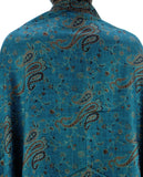 NYFASHION101 Large Soft Double Layer Jacquard Paisley Print Scarf Shawl Wrap- Peacock
