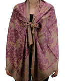 NYFASHION101 Large Soft Double Layer Jacquard Paisley Print Scarf Shawl Wrap- Light Purple