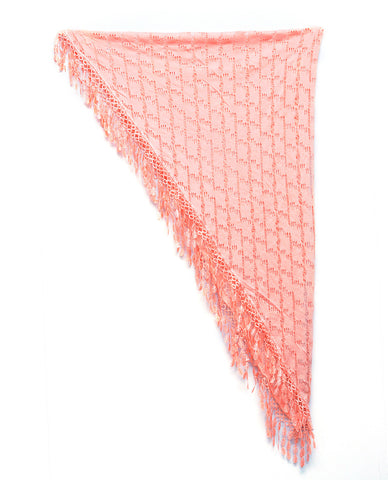NYFASHION101® Lightweight Lace Fringe Tassel Open Hole Triangle Shawl Scarf