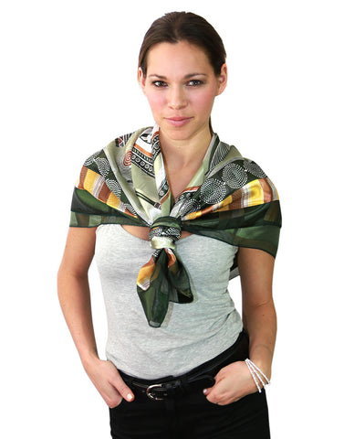 "NYFASHION101 Versatile Artistic Abstract Design 42"" Headwrap Square Scarf"