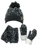 NYfashion101 Exclusive 3 Piece Confetti Knit Boot Cuff, Beanie & Mitten Set