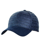 C.C Paper Straw Weaved Panel Precurved Suede Feel Brim Baseball Cap Hat