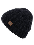 C.C Unisex Chenille Soft Warm Stretchy Thick Cuffed Knit Beanie Cap Hat