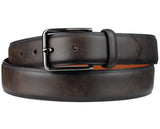 Eurosport Men's Smooth Faux Leather Classic Style Cut-To-Fit Belt with Square Buckle