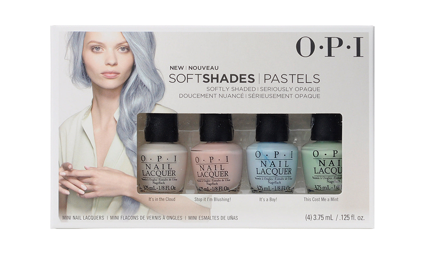 OPI Soft Shades Patels 4 Pc Mini Set - (4) 3.75 mL