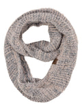 C.C Soft Furry Two Tone Knit Cowl Snood Loop Pullover Infinity Scarf