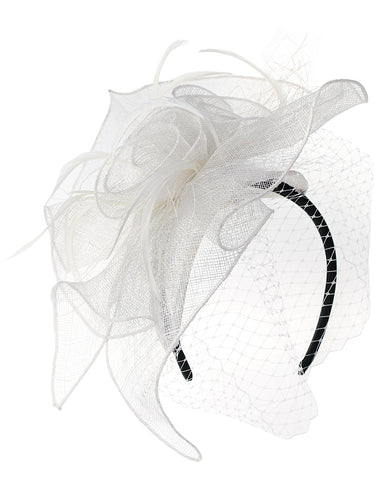 NYFASHION101 Cocktail Formal Party Face Veil Floral Mesh Fascinator Headband