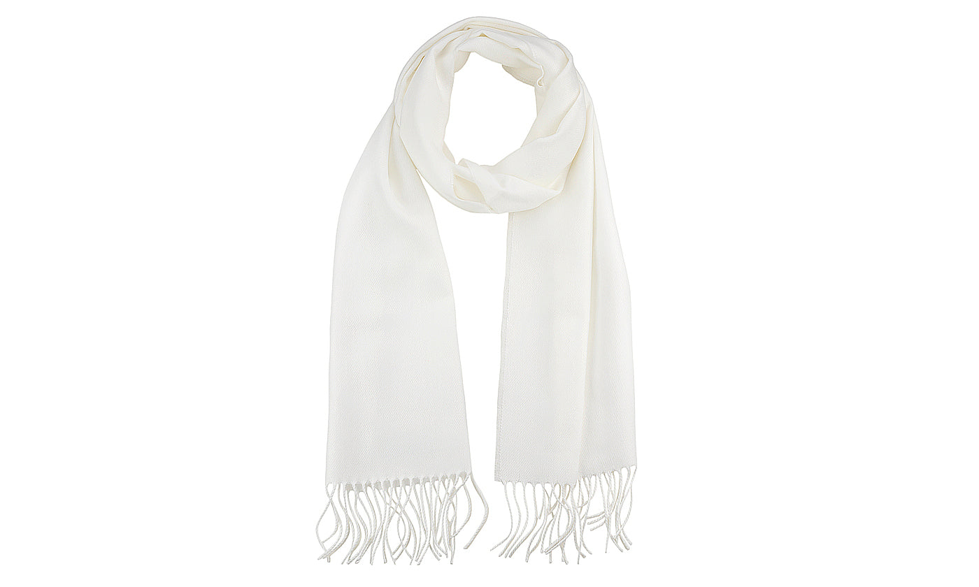 Unisex Classic Softer Than Cashmere Plain Fringe End Scarf