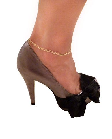 "Women's Gold-Tone 10"" Various Chain Ankle Bracelet Anklet"