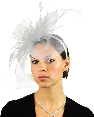 NYFASHION101 Elegant Formal Curlicue Center Sinamay Fascinator Headband